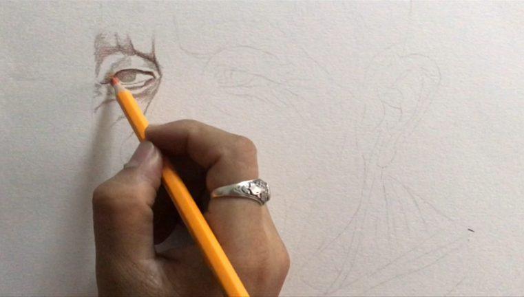 สอนระบายสีไม้กับภาพเหมือน